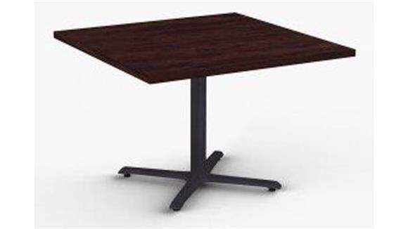 "Cafeteria Tables Special T 36"" x 36"" Breakroom and Hospitality Table, X-Base"