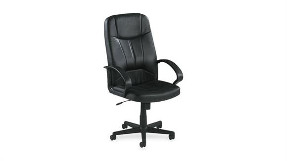Office Chairs Lorell Executive High Back Leather Chair