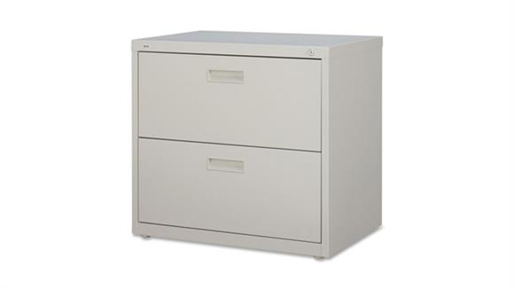 """File Cabinets Lateral Lorell 30"""" W  2 Drawer Lateral File"""
