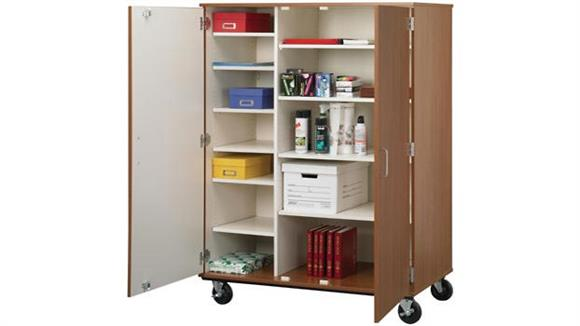 "Storage Cabinets Stevens Industries 66"" Tall - Open Shelf Storage with Doors and Lock"