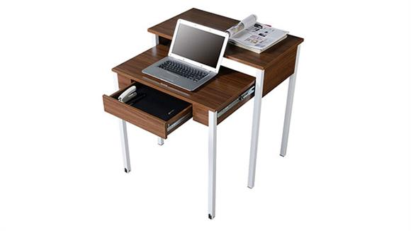 Compact Desks Techni Mobili Retractable Student Desk with Storage
