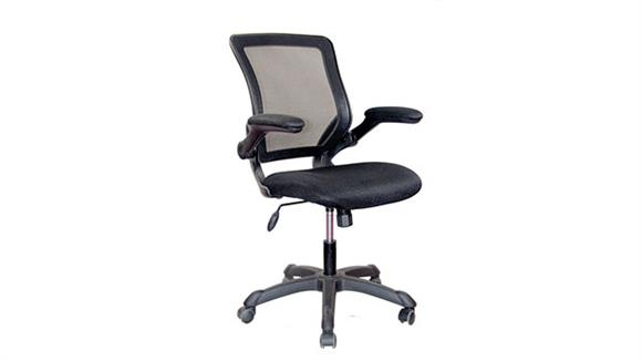 Office Chairs Techni Mobili Mesh Task Chair with Flip Up Arms