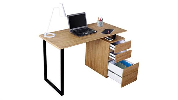 Computer Desks Techni Mobili Computer Desk with Storage and File Cabinet