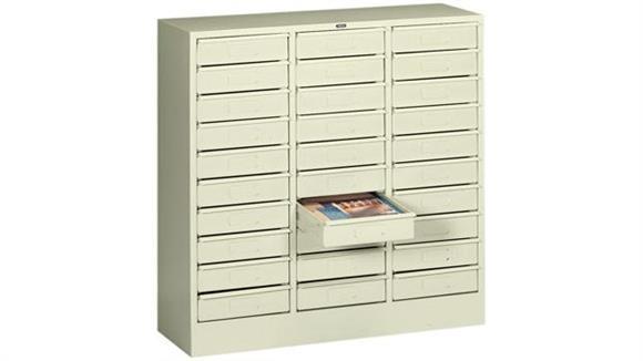 Magazine & Literature Storage Tennsco 30 Drawer Letter Size Organizer