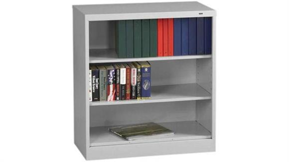 "Bookcases Tennsco 42""H x 18""D Heavy Duty Steel Bookcase"