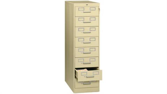 File Cabinets Vertical Tennsco 8 Drawer Card File