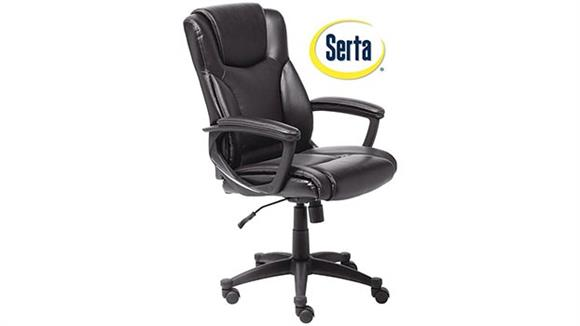 Office Chairs Serta Seating Leather Executive Chair