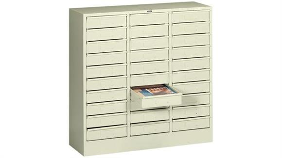 Magazine & Literature Storage Tennsco 30 Drawer Letter Size Organizer