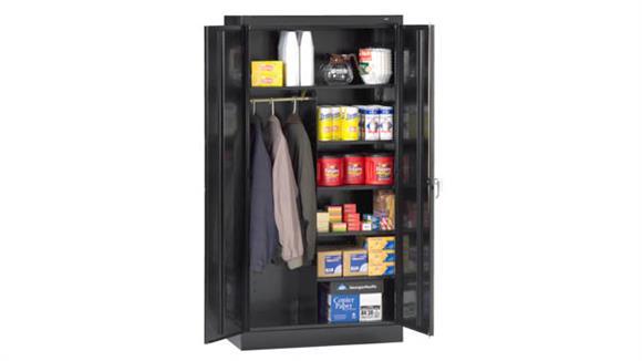 "Storage Cabinets Tennsco 72""H x 18""D Standard Combination Cabinet"