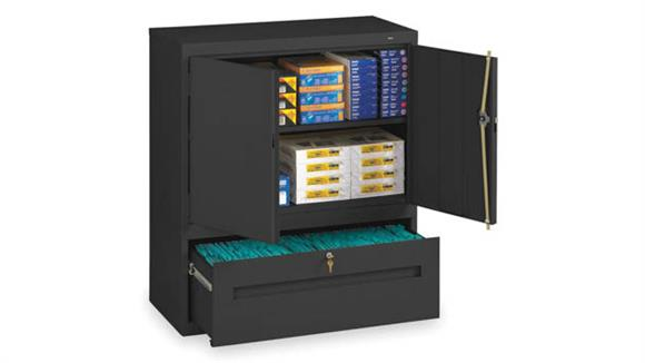 "Storage Cabinets Tennsco 42""H Storage Cabinet with File Drawer"