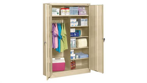 "Storage Cabinets Tennsco 78""H x 18""D Jumbo Combination Cabinet"
