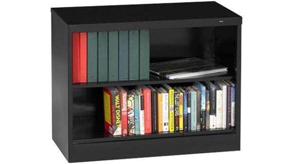 "Bookcases Tennsco 30""H x 18""D Heavy Duty Steel Bookcase"
