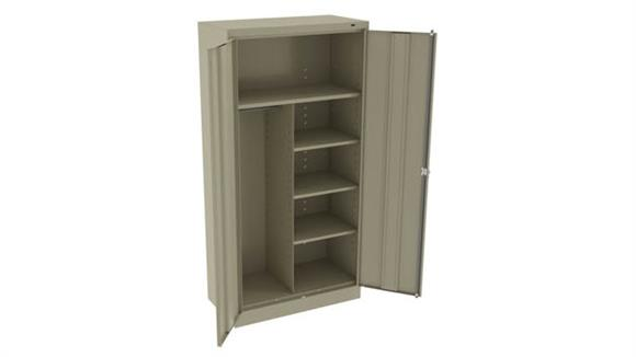 "Storage Cabinets Tennsco 72""H x 18""D Standard Combination Cabinet"