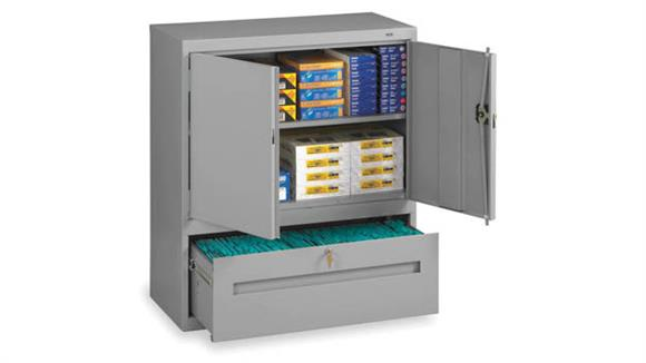 """Storage Cabinets Tennsco 42""""H Storage Cabinet with File Drawer"""