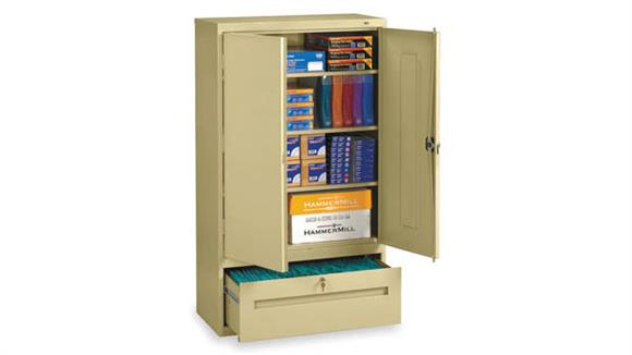 """Storage Cabinets Tennsco 64""""H Storage Cabinet with File Drawer"""
