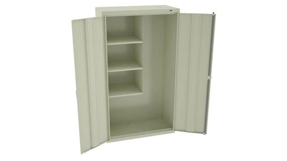 "Storage Cabinets Tennsco 64""H Welded Janitorial Cabinet"