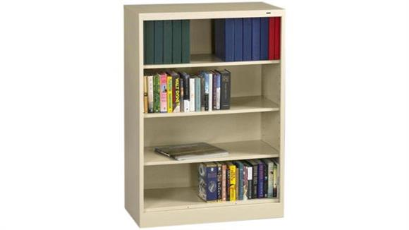 "Bookcases Tennsco 55""H x 18""D Heavy Duty Steel Bookcase"