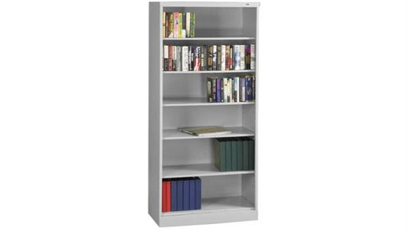 "Bookcases Tennsco 84""H x 18""D Heavy Duty Steel Bookcase"