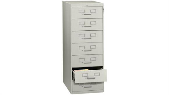File Cabinets Vertical Tennsco 7 Drawer Card File