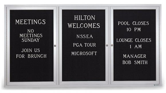 "Bulletin & Display Boards United Visual 72"" x 36"" Indoor Enclosed Letterboard"