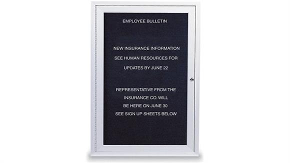 "Bulletin & Display Boards United Visual 18"" x 24"" Outdoor Enclosed Letterboard"