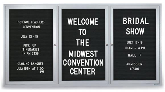 "Bulletin & Display Boards United Visual 72"" x 36"" Outdoor Enclosed Letterboard"