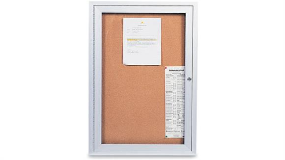 "Bulletin & Display Boards United Visual 18"" x 24"" Indoor Enclosed Corkboard"