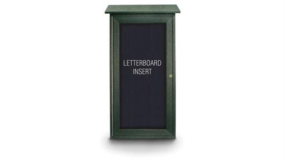 "Bulletin & Display Boards United Visual 16"" x 34"" Letterboard Mini Message Board"