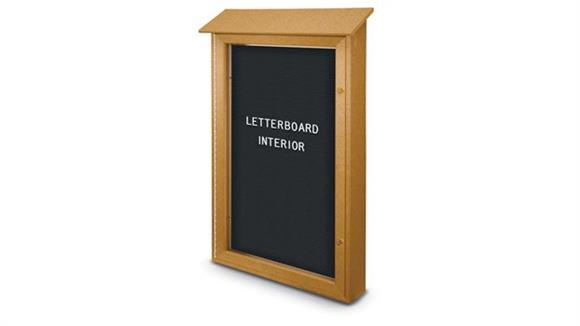 "Bulletin & Display Boards United Visual 26"" x 42"" Letterboard Single Door Message Center"