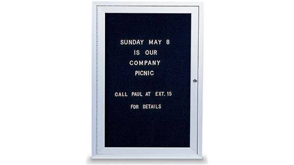 "Bulletin & Display Boards United Visual 18"" x 24"" Indoor Enclosed Letterboard"