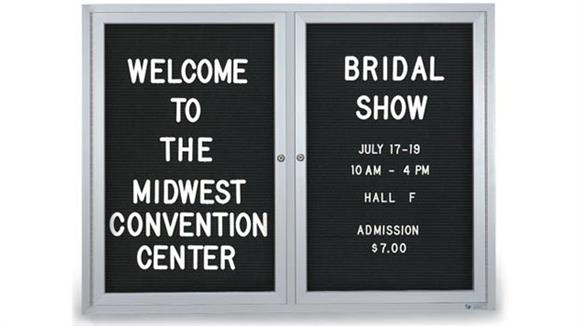 "Bulletin & Display Boards United Visual 42"" x 32"" Outdoor Enclosed Letterboard"