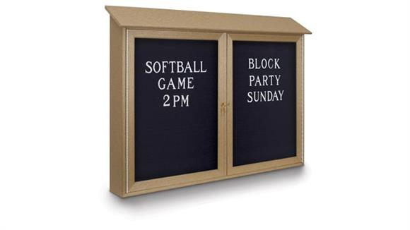 "Bulletin & Display Boards United Visual 45"" x 30"" Letterboard Double Door Message Center"