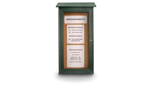 "Bulletin & Display Boards United Visual 16"" x 34"" Cork Mini Message Board"
