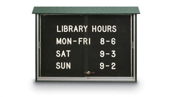 "Bulletin & Display Boards United Visual 45"" x 30"" Letterboard Sliding Door Message Center"