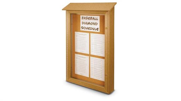 "Bulletin & Display Boards United Visual 26"" x 42"" Single Door Message Center"