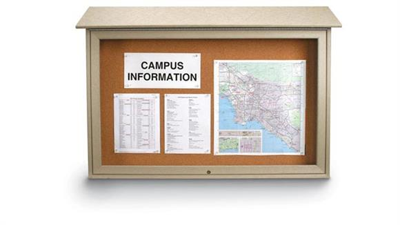 "Bulletin & Display Boards United Visual 45"" x 30"" Top Hinged Message Center"