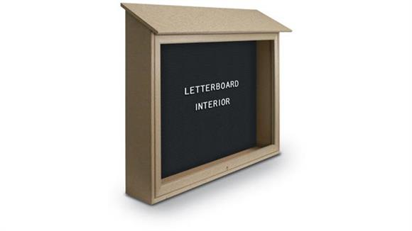 "Bulletin & Display Boards United Visual 45"" x 30"" Letterboard Top Hinged Message Center"