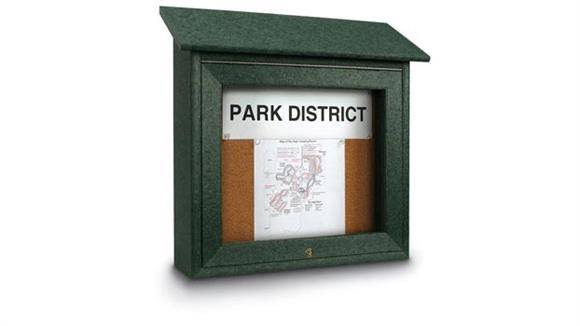 "Bulletin & Display Boards United Visual 18"" x 18"" Cork Mini Message Board"