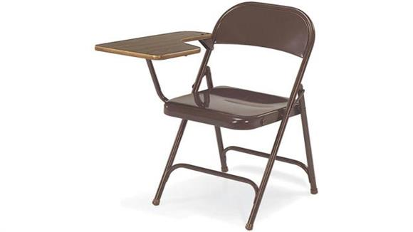 Folding Chairs Virco Folding Tablet Arm Chair