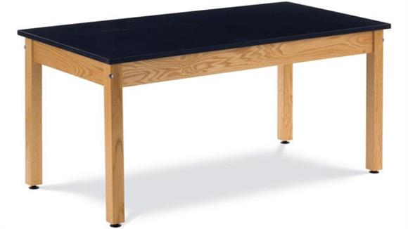 "Science & Lab Tables Virco 60"" x 30"" Oak Science Table with Epoxy Resin Top"