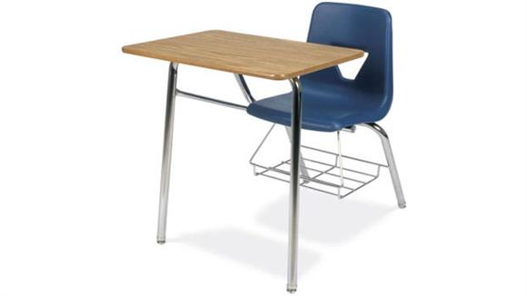 School Desks Virco Chair Desk with Bookrack