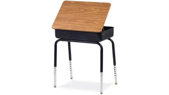 School Desks Virco Lift Lid Desk with Laminate Top