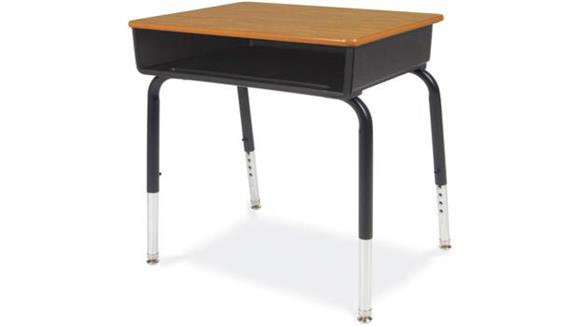 School Desks Virco Open Front Student Desk with Plastic Book Box
