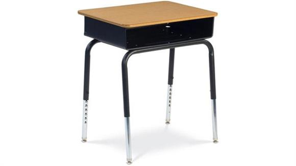 School Desks Virco Open Front Student Desk with Metal Book Box