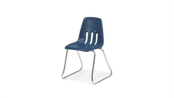 "Stacking Chairs Virco 12"" Sled Base Stack Chair"