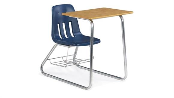 School Desks Virco Sled Base Chair Desk with Bookrack