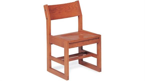 "Library Chairs Virco 16"" Wooden Library Chair"