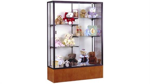 Display Cabinets Waddell Display Case with White Laminate Back