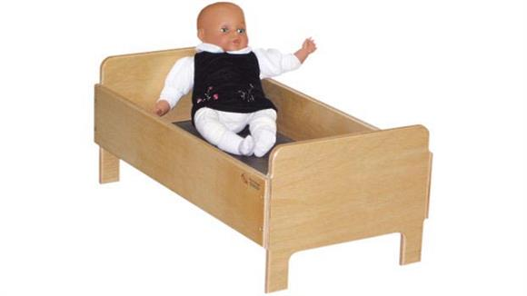 Activity & Play Wood Designs Doll Bed