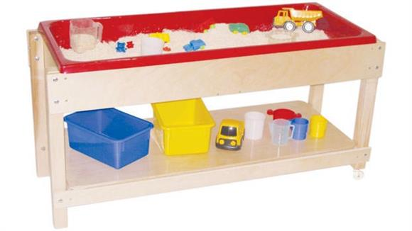 Activity & Play Wood Designs Sand & Water Table with Lid/Shelf